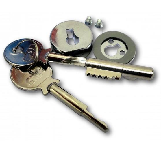 Flush Fitting Plunger Lock - (6mm -12mm) Glass