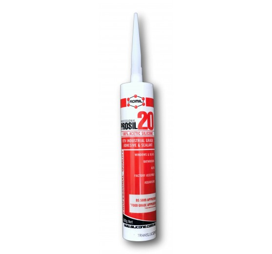 Admil Prosil 20 (Acetic Cure) Silicone Sealant - Translucent