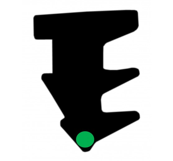 Roll-In TPV Glazing Wedge - Green