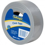 Sellotape Silver Cloth Tape - 48mm
