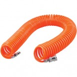 Recoil Air Hose With Connectors - (9.5mm x 12.7mm x 7.5lm)