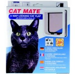 Catmate Wood Fitting (Thin Panel) Cat Door - White