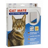 Cat Mate Glass Fitting Cat Door - White