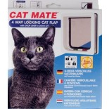Catmate Wood Fitting Cat Door (Tunnel) - White