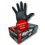 "High-Five ""Black"" (Nitrile) Disposable Gloves - Small"