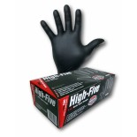 "High-Five ""Black"" (Nitrile) Disposable Gloves - Large"