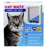 Cat Mate Wood Fitting (Large) Cat Door - White