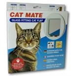 Cat Mate Glass Fitting Cat Door - White