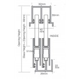 Sliding Track System - MkII Sashless - Nylon End Cap (White)