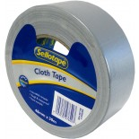 Sellotape Cloth Retention Tape - Silver 48mm