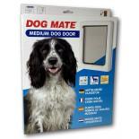 Dog Mate Wood Fitting (Medium) Dog Door - White
