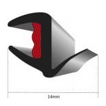 Universal U-Lip Cavity Moulding - (14mm)