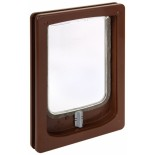 Wood Fitting Small Dog Door - Brown