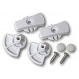 Dogwalk Replacement Locking Door Knobs - White