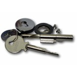 Flush Fitting Plunger Lock - (5mm - 6mm) Glass