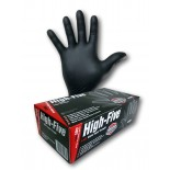 """High-Five """"Black"""" (Nitrile) Disposable Gloves - Extra Large"""
