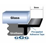 Universal Underside Stepdown Moulding - 8mm Lip