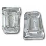 Dogwalk Glass Fitting Dog Doors - Security Locking Clips - Clear