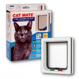 Cat Mate Wood Fitting Cat Door (Tunnel) - White