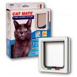 Cat Mate Wood Fitting (Thin Panel) Cat Door - White